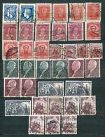 Poland 1927/38, Lot Of 37 Stamps Unused/used Incl. MiNr 244, 246, 252, 256, 264, 324-25, 326, 330 - See Description - 1919-1939 République