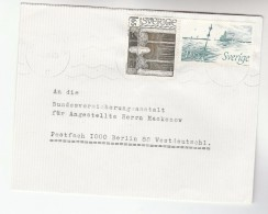 SWEDEN COVER Stamps BAUER ART NUDE,  SHIP  To Germany - Covers & Documents