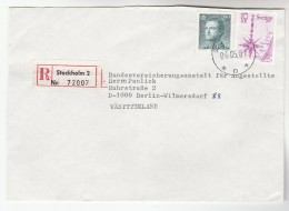 1987 REGISTERED SWEDEN COVER Stamps  To Germany - Covers & Documents