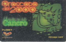 ITALY - Zodiac/Cancer, Planet Promotion Prepaid Card, Tirage 20000, Exp.date 31/12/00, Mint - Zodiaco