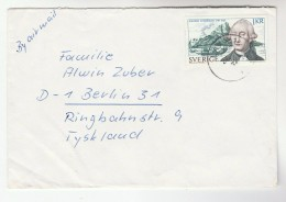 Air Mail SWEDEN COVER Stamps SPARRMAN, BOAT,  MOUNTAIN  To Germany - Sweden