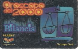 ITALY - Zodiac/Libra, Planet Promotion Prepaid Card, Tirage 20000, Exp.date 31/12/00, Mint - Zodiaco