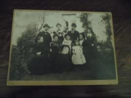 Grande Photographie Ancienne La Famille Autissier Daté Octobre 1898 - Photos