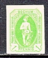 GERMANY  PRIVATE POST  BOCHUM  27  * - Private