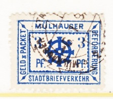 GERMANY  PRIVATE POST  MULHAUSEN  9 A  (o) - Private