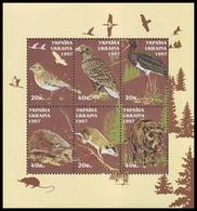 UKRAINE 1997. WILDLIFE. ANIMALS AND BIRDS. Mi-Nr. 237-42 Block 9. MNH (**) - Vogels