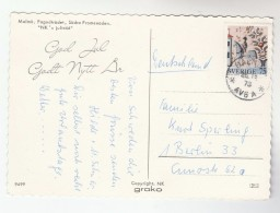 1973 SWEDEN  HORSE Stamps COVER Postcard Malmo To Germany - Sweden