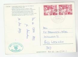 1973 'STOCKHOLM PFA IBRA MUNCHEN'  EVENT COVER Card SWEDEN Goat Stamps Germany - Sweden