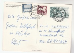 1977  SWEDEN HORBY  EVENT COVER (card) Stamps Music - Sweden
