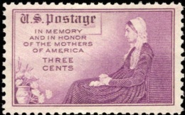 1934 USA Mother's Day Stamp Sc#737 Or #738 Carnation Flower Famous Painting By James A. Whistler - Ungebraucht