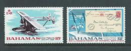 Bahamas 1969 Airmail Anniversary Set Of 2 MNH - Bahamas (1973-...)