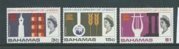 Bahamas 1966 UNESCO Set Of 3 MNH - Bahamas (1973-...)