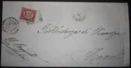 ANNULLI NUMERALI CAMPANIA: NUMERALE POMIGLIANO D'ARCO Napoli Su Servizio - 1861-78 Vittorio Emanuele II