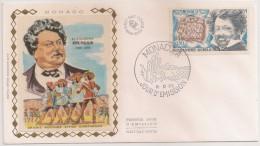 Monaco FDC 1970 - Aramis Porthos Athos D´artagnan - Alexandre Dumas - Enveloppe 1er Jour En Soie - FDC