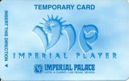Imperial Palace Casino Las Vegas, NV - Temp Slot Card - No Mfg Mark On Back - 12.5m Mag Stripe - Casino Cards