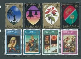 Bahamas 1972 & 1973 Christmas Sets Of 4 MNH - Bahamas (1973-...)
