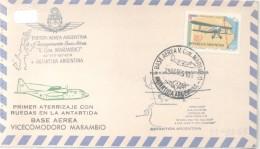 FUERZA AEREA ARGENTINA - INAUGURACION BASE AEREA VICECOMODORO MARAMBIO AÑO 1969 PRIMER ATERRIZAJE CON RUEDAS EN LA ANTAR - Postzegels