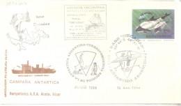 DESTACAMENTO NAVAL ORCADAS AÑO 1994 SPECIAL COVER ARGENTINA TONINA OVERA - Preservar Las Regiones Polares Y Glaciares