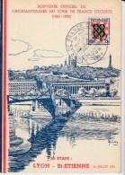 84569 - CP TOUR DE FRANCE  1953 - 20e étape LYON ST ETIENNE - 24 Juillet TB - Radsport
