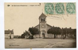 CPA  58  :  ST GERMAIN CHASSENAY  Place Et église   A  VOIR  !!!!!!! : - Other Municipalities