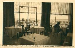 Cpa CANNES 06 PALM BEACH Casino - La Merveille De La Riviera - Le Transatlantique Vulcania Vu Du Restaurant - Cannes