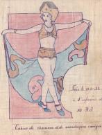 Cahier Manuscrit 1932 -chansons Monologues Comiques -militaria Soldat Vie Militaire -32 RJ -prostituée Femme Nue Bordel