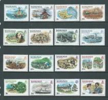 Bahamas 1980 History Definitives Set Of 16 MNH - Bahamas (1973-...)