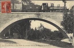 55- ETAMPES - Le Pont De Chemin De Fer De Beaune-la-Rolande -ed. G J  -TRAIN - Etampes