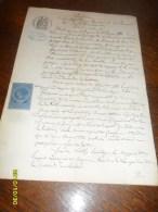 2 PHOTOS/1886 -DOCUMENT(ALBI/Tarn) + TP/ COPIES N° 5 +OBL /DECIME +Tampon  SEC - Revenue Stamps