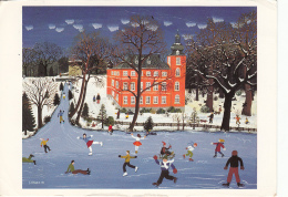Artist Signed J. Hawle 1978 Ice Skate Fantasy Postcard - Andere Zeichner