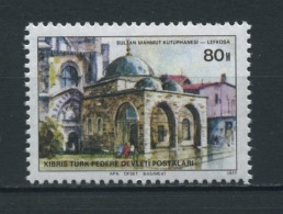 CYPRUS   (TURKISH)    1977    Turkish  Buildings   80m  Mahmut  Library     MNH - Chypre (Turquie)