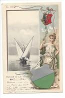 14302 - Barque Du Léman Armoiries Vaud Et Genève - VD Vaud