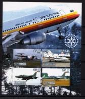 2003 - Avions, Rotary International - BF De 4 Val Neufs // Mnh - Gambie (1965-...)