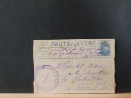 A6407  CARTE LETTRE  1916 VERSO CACHET LA TALAUDE - Marcofilie (Brieven)
