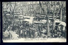 Cpa Du 11  Carcassonne  Le Marché - Place Carnot -- Au Dos Rare Cachet  Du 46ème De Ligne   LIOB61 - Carcassonne