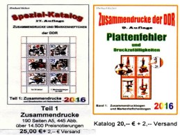 DDR/GDR Teil 1+4 RICHTER 2016 Alle Zusammendrucke+Abarten In Bogen-ZD New 45€ Se-tenants Error Special Catalogue Germany - Books, Magazines, Comics
