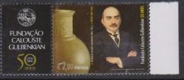G 597) Portugal 2006 Mi# 3078 **: C. S. Gulbenkian (1869-1955), Ölhändler Mäzen Öl Gefäss Kunst - 1910-... Republik