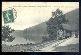 Cpa Du 88  Gerardmer -- Route De La Rive Gauche Du Lac -- Le Tramway Vient De Remiremont   LIOB59 - Gerardmer