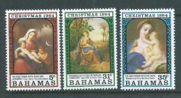 Bahamas 1984 Christmas Painting Set Of 3 MNH - Bahamas (1973-...)