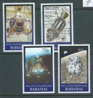 Bahamas 1999 Moon Landing Space Set Of 4 MNH - Bahamas (1973-...)