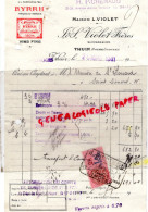 66 - THUIR - FACTURE MAISON L. VIOLET FRERES- BYRRH- DEPOT LIMOGES H. PICHENAUD 22 AV. ADRIEN TARRADE-1941 - France