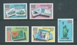 Bahamas 1986 Ameripex Set Of 5 MNH , One With Tiny Gum Mark - Bahamas (1973-...)