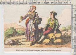 Campobasso Isernia  Antichi Costumi Molisani Uomo E Donna Di Bagnoli    Folklore - Campobasso