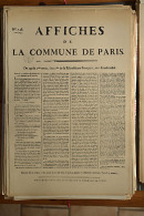 AFFICHE REVOLUTION. FAC-SIMILÉ - 54 - AFFICHES DE LA COMMUNE DE PARIS N°146   DU 28 BRUMAIRE DE L'AN 2 - Afiches