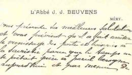 MERY 1909 / ABBE BEUVENS ( Esneux Tilff ) - Cartes De Visite