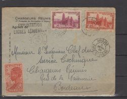 "AOF - N° 114 , 116 Et 120 Obli/sur Lettre - Cachet "" Exploitation Lignes Aeriennes "" - Abidjan - 1939 - A.O.F. (1934-1959)"