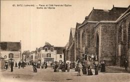 BATZ-PLACE-EGLISE-SORTIE DES VEPRES-boucherie Doniol-épicerie-mercerie - Batz-sur-Mer (Bourg De B.)