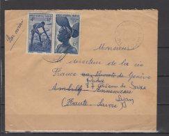 AOF  - N° 36 Et 38 Obli/sur Lettre - 1951 - A.O.F. (1934-1959)