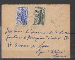 Cameroun - N° 285 Et 290 Obli/sur Lettre - 1950 - Cameroun (1915-1959)