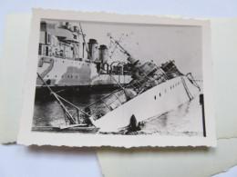 Ww2 Bombardement De La Flotte Par Les Anglais Bateau Coulé . à Identifier  . Vichy Pétain 2 Eme Guerre - Guerra, Militari
